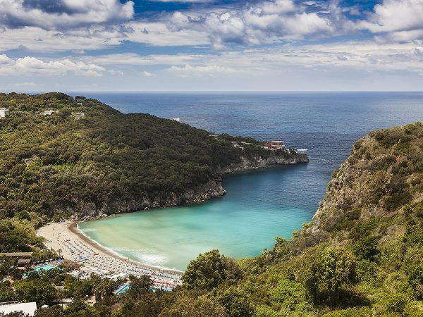 Italy, Gulf of Naples, Island of Ischia: San Montano beach